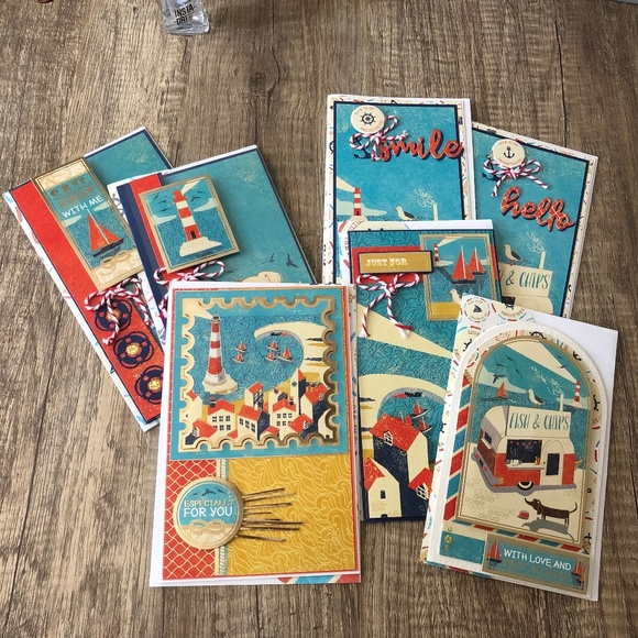 Other - Handmade Seaside Variety Pack ( Total 7 Cards)